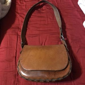 Vintage Mexican leather purse bag